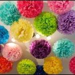 12 Decorative Paper poms